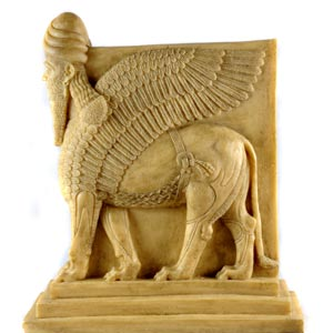Human-headed winged lion (lamassu) Assyrian