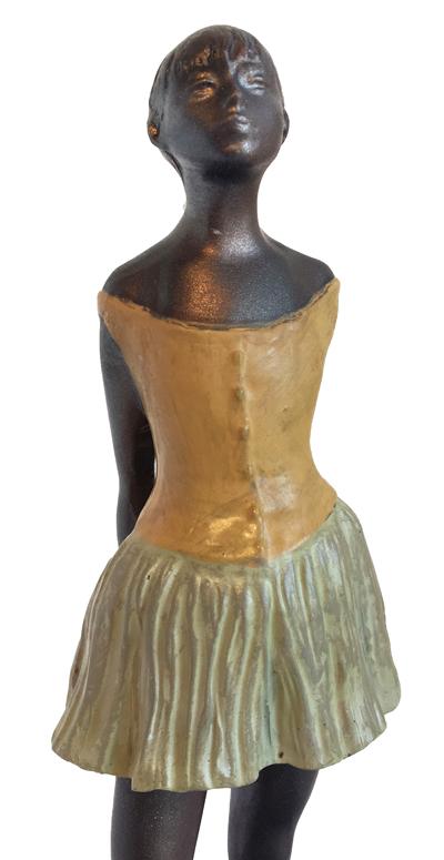edgar degas little ballerina small statuette  paitnated