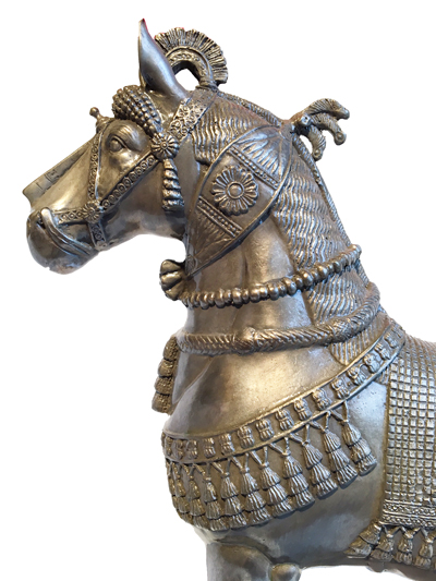 Assyrian Horse free standing, Silver Nitrate on Bronze