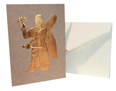 Assyrian Winged Divinity Note Card